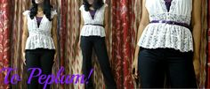 CandyVioleta. Indian Fashion Blog/ Indian Fashion Blogger: How to : Peplum http://candyvioleta.blogspot.in/2012/06/how-to-peplum.html
