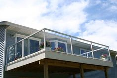 Glass Panel Railings For Decks | ... of Glass Railing: Nice Glass Railing Deck Design – Nazagreen