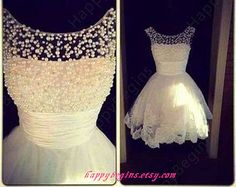 Buy DreamDressy Short White Pearl Lace Prom Dress/Homecoming Dress/Wedding Reception Dress at Wish - Shopping Made Fun Dresses Short, Cheap Prom Dresses, Formal Dresses, Wedding Dresses, Lace Wedding, Dresses Dresses, Bridal Gowns, Bridesmaid Dresses, Summer Wedding
