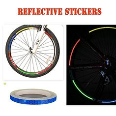 Dofover MTB Road Bike Bicycle Cycling Wheel Rim Light Reflective Stickers DIY Reflective Warning Stripe Decal for Bike Motorcycle Car - 8M:   br Reflective rim tape is ideal for anything with wheels. Apply it to your vehicle (motorcycle, bicycle, car, etc.) for a custom look and to help you feel safer when sharing the road with larger vehicles. This rim tape is also great for full-size vehicles to help you stand out from other cars cruising at night.br br Features:br br - Many colors i...