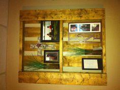 My pallet shelf...