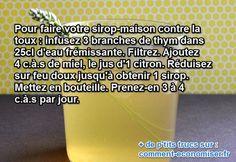 Le sirop contre la toux est meilleur quand il est fait maison :-)  Découvrez l'astuce ici : http://www.comment-economiser.fr/sirop-toux-maison.html?utm_content=buffer7487c&utm_medium=social&utm_source=pinterest.com&utm_campaign=buffer