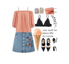 """""""Like ice cream"""" by beauty-from-ashes ❤ liked on Polyvore featuring Miss Selfridge, Monki and New Look"""