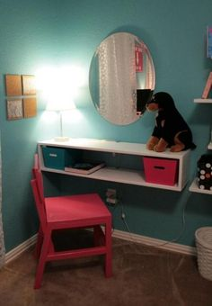 "Instead of a vanity, I was thinking this would be okay for a small ""desk area"" that might work in a living room . . ."