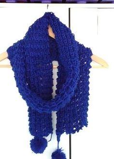Kup mój przedmiot na #vintedpl http://www.vinted.pl/akcesoria/inne-akcesoria/15240903-chabrowy-zimowy-dziergany-szalik-stan-idealny