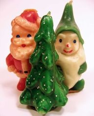 Old Christmas candles- these looks so familiar. I think my mom might have had the tree and the elf.