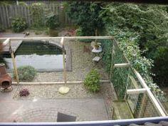 Cat proof fence. Keeps our cats save inside the garden