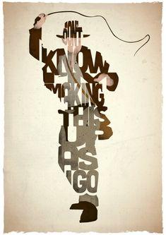 Affiche typographique citation de film Indiana Jones