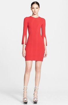 Alexander McQueen Slit Sleeve Knit Dress available at #Nordstrom