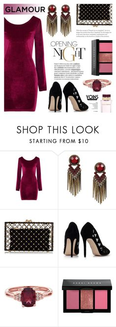 """""""Velvet Dress - Yoins 5"""" by anyasdesigns ❤ liked on Polyvore featuring Charlotte Olympia, Bobbi Brown Cosmetics and Dolce&Gabbana"""