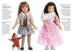 Paulette and Princess in Pink and two new dolls from the 2014 Kidz 'n' Cats collection. Gorgeous play dolls with lots of joints for age 6+. Available from Petalina in March/April.