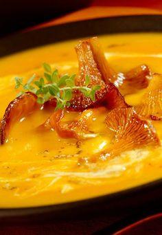 Recette de potimarron : velouté potimarron, velouté de potimarron et moutarde - Recettes de l'automne : recette potiron, recette automne, recette cocooning