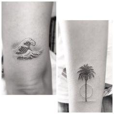 dr woo palm tree tattoo