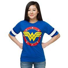 Wonder Woman Hockey Stripe Ladies' Tee