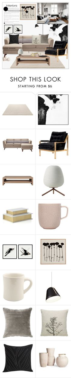 """Scandinavian Living Room"" by rainie-minnie ❤ liked on Polyvore featuring interior, interiors, interior design, home, home decor, interior decorating, ESPRIT, PTM Images, Moe's Home Collection and Bisque"