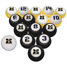 University of MO - Missouri Tiger Billiard Pool Ball Set