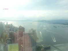 First Day in Hong Kong In Aug 2014 - Central, View from Monetary Museum of Victoria Harbour