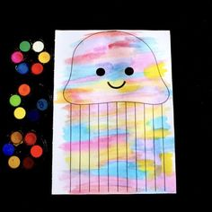 Watercolour Jellyfish – Make Film Play Preschool Letter Crafts, Letter A Crafts, Craft Activities For Kids, Watercolor Jellyfish, Jellyfish Art, Watercolor Paper, Ocean Projects, Art Projects, Birthday Display In Classroom