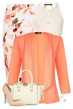 Bright Blazer for Work - - Outfits for Work Work Fashion, Modest Fashion, Daily Fashion, Fashion Dresses, Fashion Looks, Polyvore Outfits, Polyvore Fashion, Peach Clothes, Business Casual Attire