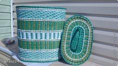 Поделка изделие 1 апреля Плетение короба Трубочки бумажные фото 2