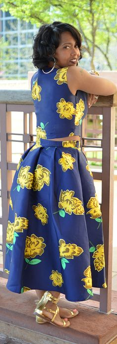 Spring, Crop Top, Skirt