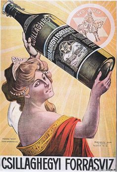 Decorating with Vintage Posters Retro Ads, Vintage Advertisements, Vintage Ads, Vintage Posters, Vintage Designs, Agua Mineral, Mineral Water, Water Poster, Spiritus
