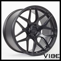 "19"" MRR FS01 MATTE BLACK CONCAVE WHEELS RIMS FITS CHEVROLET CAMARO LS LT SS #MRR #fs01 #wheels #forged #chevy #camaro #vibemotorsports"