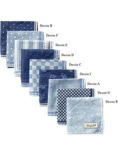 All-over printed indigo pocket square -Scotch & Soda