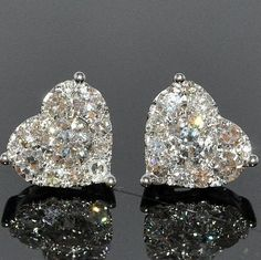 Chanel heart-shaped diamond earrings.  -- 60 Stunning Jewelry Pieces From Pinterest @styleestate