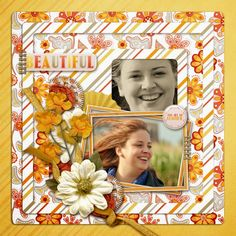 Scrapkit BrightandBeautiful by SeatroutScraps ChallengeTemplate by #SeatroutScraps Photos by #kpmelly  #ct #portrait #layout