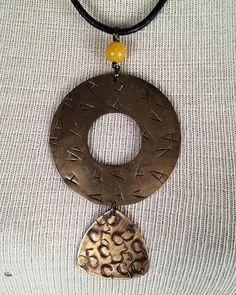 #brassjewelry #statementjewelry #handcraftedjewelry @metallocraft