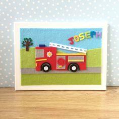 Personalised Childrens Art. Personalised Fire by BunbyAndBean