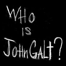 "Official Atlas Shrugged ""Who is John Galt?"" T-Shirt"