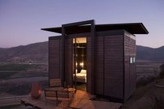 the endemico resguardo silvestre project consists of 20 ecolofts in valle de guadalupe, baja, california that are 215 sq ft each.   I want to go there.