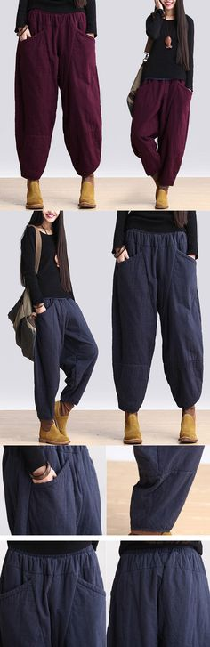 c9fcc1f96d2 Cotton Spring And Winter Pants