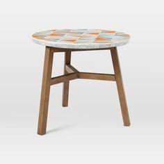 290$  Mosaic Tiled Bistro Table - Mid-Century Orange | west elm