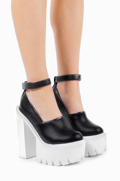 Jeffrey Campbell Shoes SCULLY Platforms in Black White