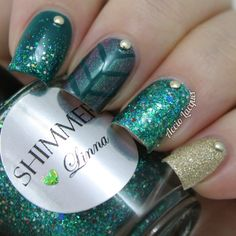 Time to Fall for Glitter: Shimmer Polish: Linna