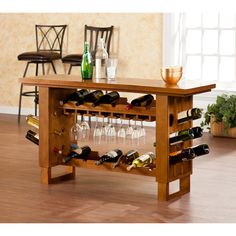 Upton Home Meridian Riddling Wine Console/ Bar Table - Overstock Shopping - Big Discounts on Upton Home Bar Tables
