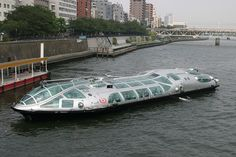 Leiji Masumoto designed this ferry boat inspired by his many imaginative anime starship designs. Can't wait to ride it some day if I am so lucky as to finally get to visit Japan...