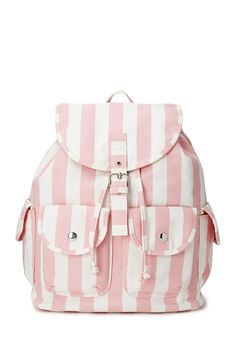 Cool Girl Striped Backpack | FOREVER21 Super cute backpack #Stripes #F21Crush #Accessories