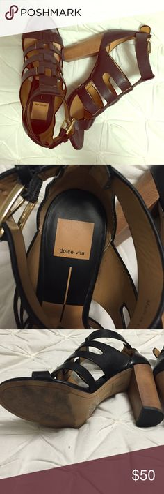 Dolce vita heel Gently worn! Dolce vita (not the lower line or target line) called the Niro gladiator heel.  Real leather so comfortable. Just a little to big on me. No trades. Can ship in a box if wanted Dolce Vita Shoes Heels