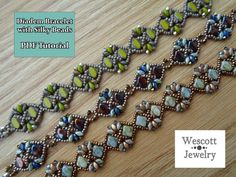 Pattern for Diadem Bracelet with Silky Beads by WescottJewelry