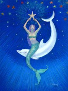 Star-catching mermaid