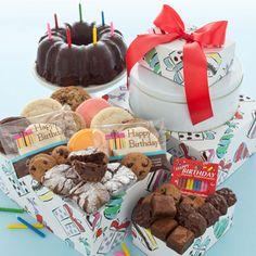 Happy Birthday Celebration Gift Tower via Cheryl's