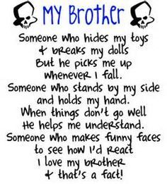 Quotes About Loving Your Brother Cool I Love My Little Brotherbrother Quotes On Picturequotes