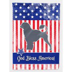 Caroline's Treasures Patriotic USA Portuguese Water Dog 2-Sided Garden Flag