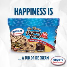 Happiness is a tub of Hershey's® Ice Cream