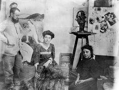 Henri Matisse, son épouse Amélie Noellie Parayre et sa fille Marguerite