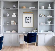 ideas for home office inspiration wall built ins Office Nook, Home Office Space, Home Office Design, Home Office Decor, Office Ideas, Office Designs, Closet Office, Rustic Home Offices, Kitchen Office